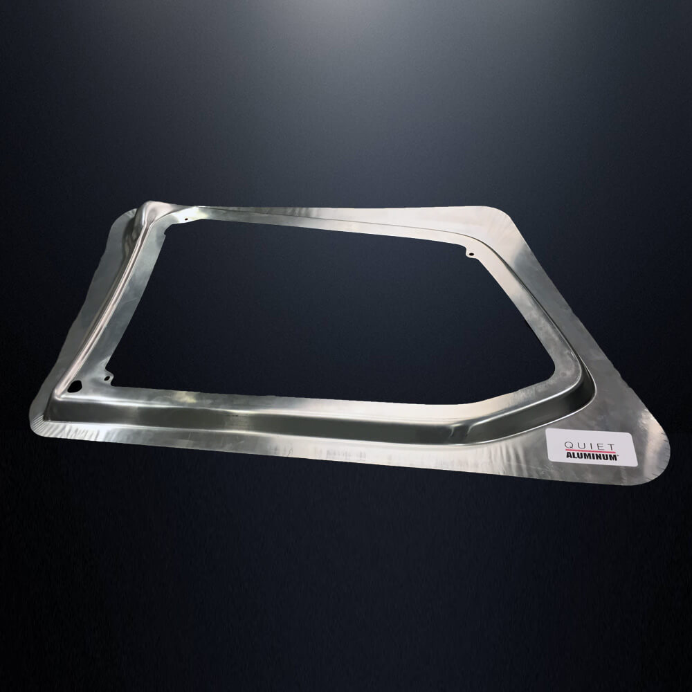 Quiet Aluminum® Lightweight NVH Dampening Alternative Stamped Metal Part